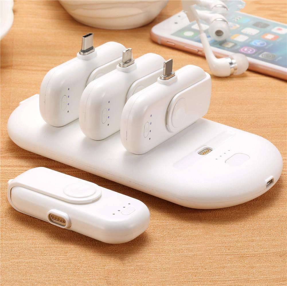 Mini Power Bank Station Plus 4 Magnetic Key Chain Power Bank Mobile Phones & Accessories Power Banks