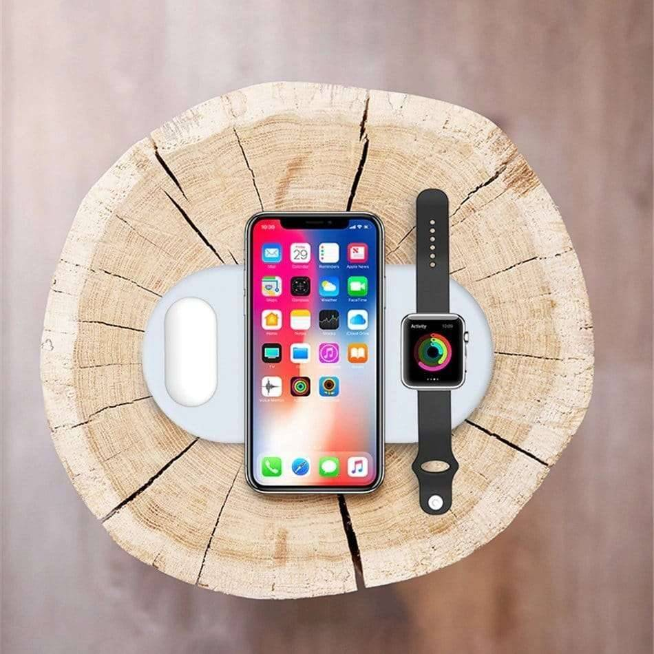 Wireless Phone / Watches / Air Pods Charger 3 in 1 Mobile Phones & Accessories Wireless Chargers