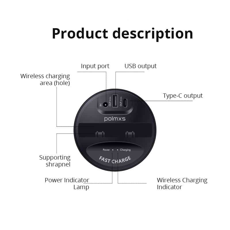 Wireless Car Charger Cup For Samsung S9 Wireless Chargers
