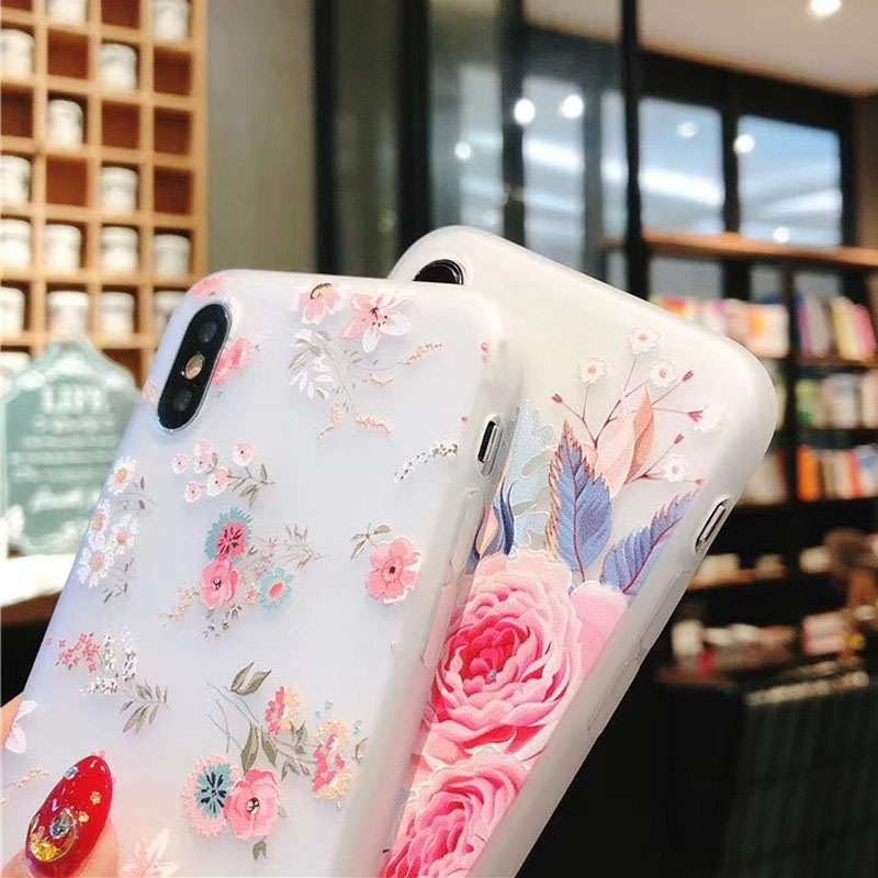 IPhone X Cartoon Textile Artificial Flower Mobile Phone Mobile Phones & Accessories Phone Bags & Cases