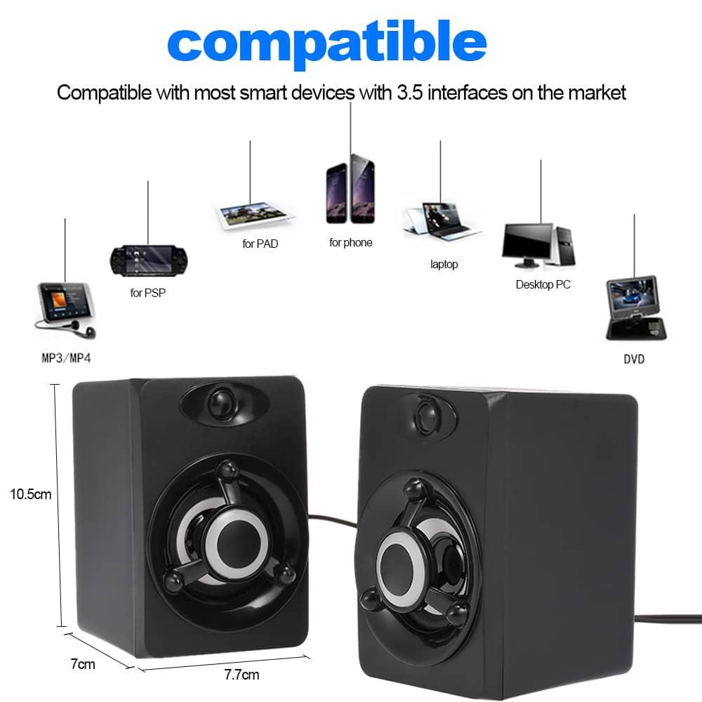 Multimedia USB Computer Speakers Loudspeaker Speakers